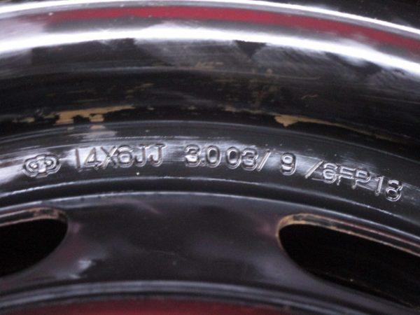 ホイール 4本 トヨタ純正 14×6J 5穴