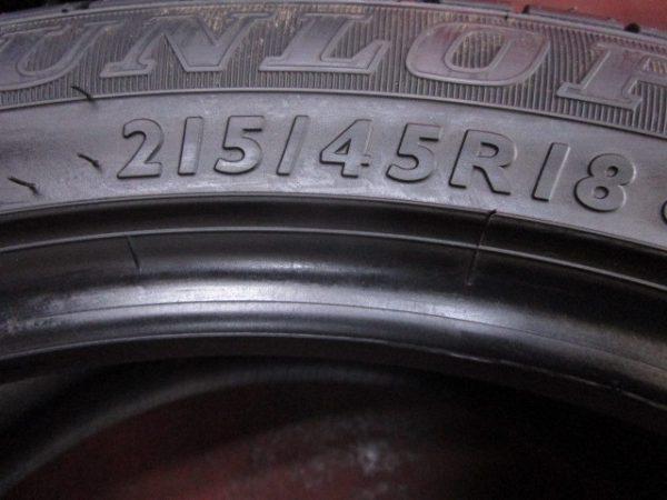 2本 215/45R18 ダンロップ SP SPORT